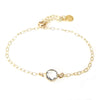 """Nina"" Slider Bracelet With Small Round Crystal"