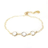 """Nina"" Slider Bracelet With Triple Small Round Crystal"
