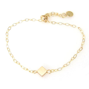 """Nina"" Slider Bracelet with Small Diamond"