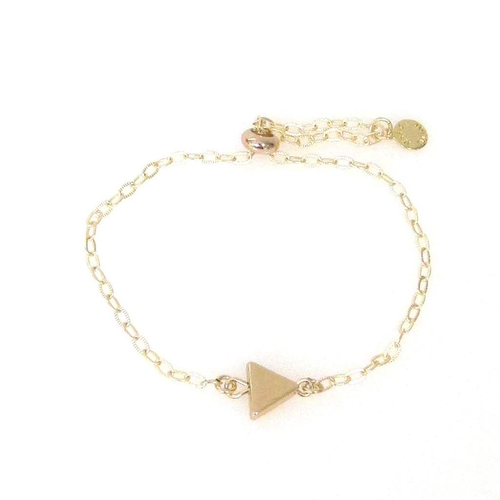 """Nina"" Slider Bracelet with Small Triangle"