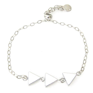 """Nina"" Slider Bracelet with Triple Triangles"