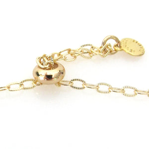 """Nina"" Slider Bracelet with Oval Crystal"
