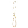 Denmark Collection Long Slider Necklace with Textured Swarovski Bars