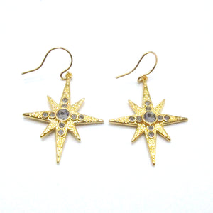 Celestial Collection Large Star Earrings