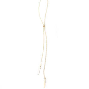 """Nina"" Long Slider Necklace with Bar"