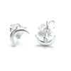 Sterling Silver Tiny Moon Earrings