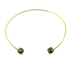 "The ""Sienna"" Wire Choker with Swarovski Crystal"
