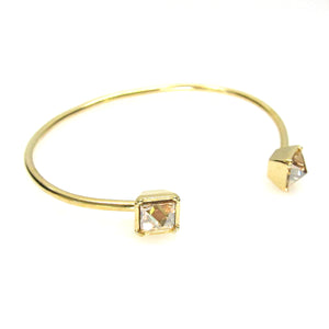 Swarovski Four Pronged Pyramid Wire Bracelet