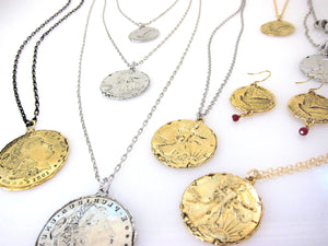 """Heritage"" Coins on sparkly chain"