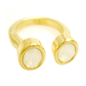 Swarovski Floating Horseshoe Rings in plated brass