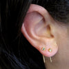 Sterling Silver Short Ear Wire With Swarovski Crystal