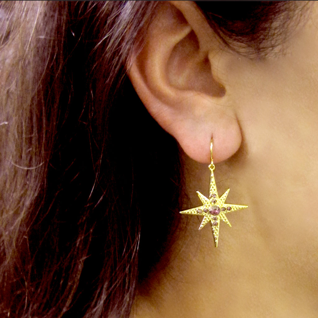 """Celestial"" Collection Large Star Earrings"