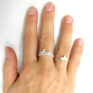 "Sterling Silver ""North Star"" Stackable Ring"
