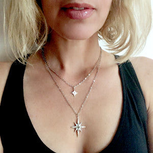 Celestial Collection Large Star Pendant Necklace