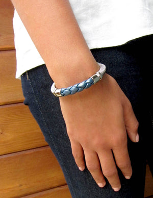 "Genuine Leather ""Trenza"" Bracelet"