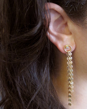 "Vermeil/Gold-filled ""Eternity Circle"" Waterfall Studs"