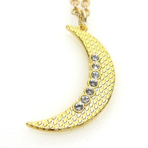 """Celestial"" Collection Large Moon Pendant Necklace"
