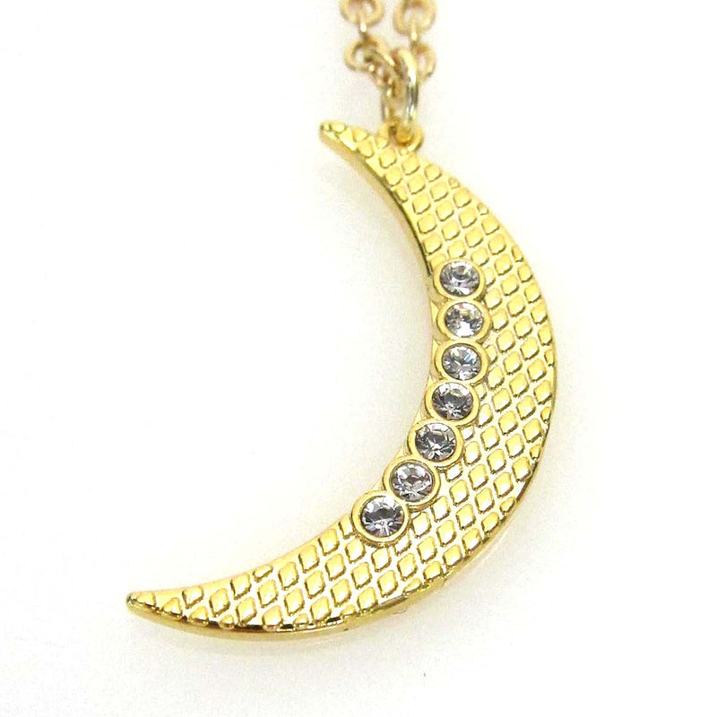 Celestial Collection Large Moon Pendant Necklace