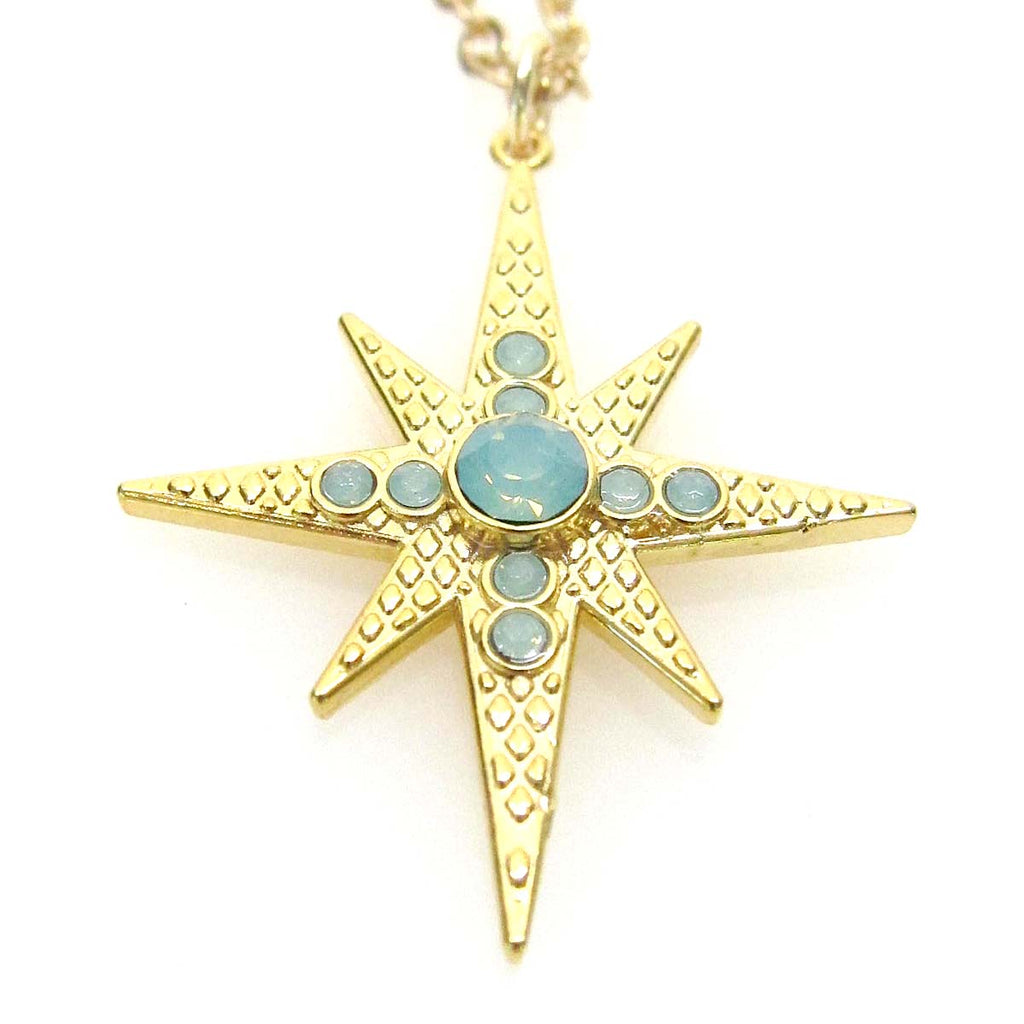 """Celestial"" Collection Large Star Pendant Necklace"