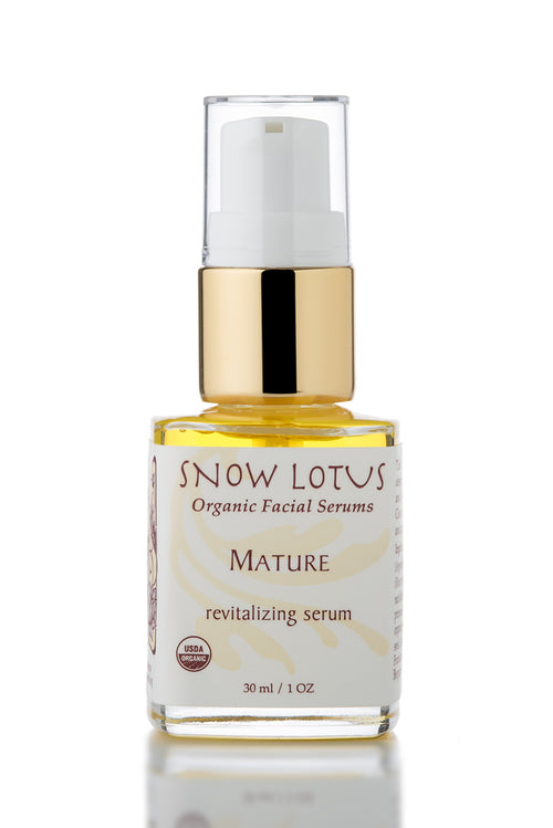 epsilon acupuncture snow lotus mature skin revitalizing organic facial serum