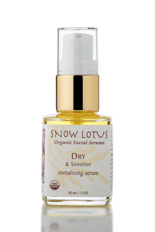 epsilon acupuncture snow lotus dry and sensitive skin facial serum organic