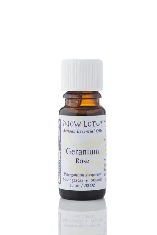 snow lotus geranium, rose essential oil 10ml