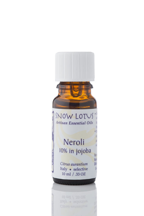 snow lotus organic neroli 10% in jojoba essential oil 10ml