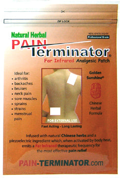 pain terminator patch warm brown 5 pack