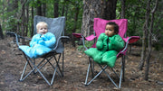 2 Babies in Camping Chairs with Little Mo Sleeping Bag - Morrison Outdoors