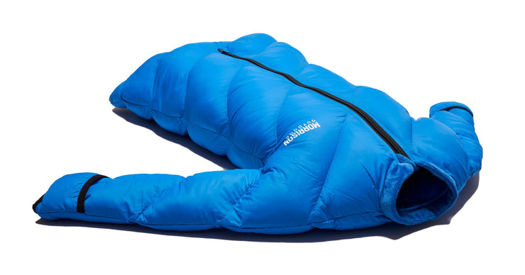 Little Mo 40° Synthetic Baby Sleeping Bag Blazing Blue Side View - Morrison Outdoors