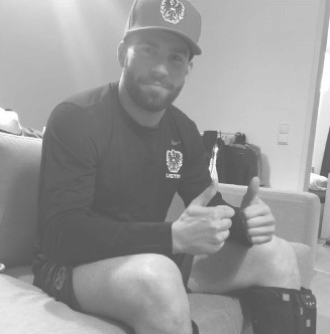 Ice Hockey Player with  Muscle Recovery Tool - Peter Schneider