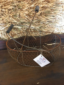Chicken Wire Basket with Handles