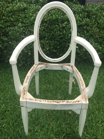 White Oval Back Chair