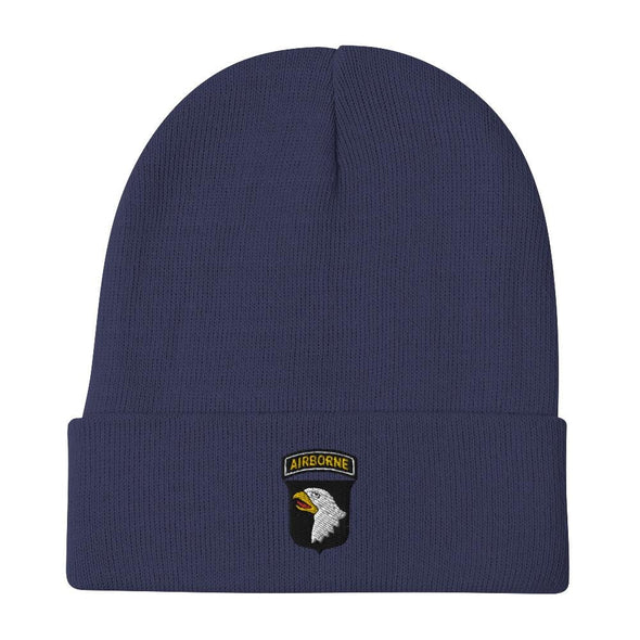 101st Airborne Division Embroidered Beanie - Navy