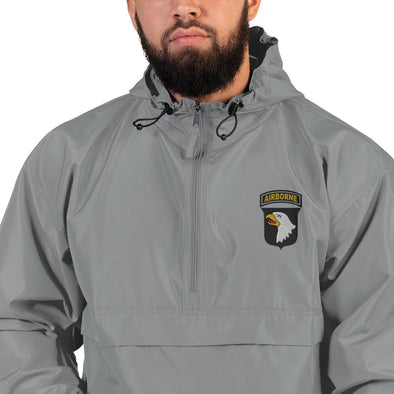 101st Airborne Division Embroidered Champion Packable Jacket - Graphite / S