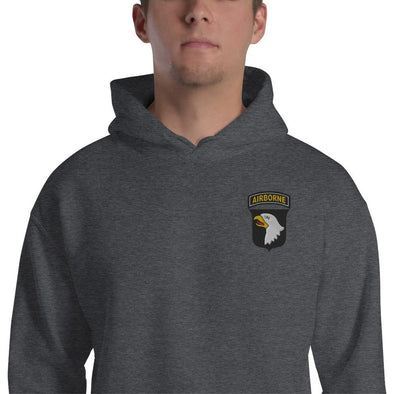 101st Airborne Division Embroidered Unisex Hoodie - Dark Heather / S