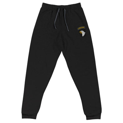 101st Airborne Division Embroidered Unisex Joggers - Black / S