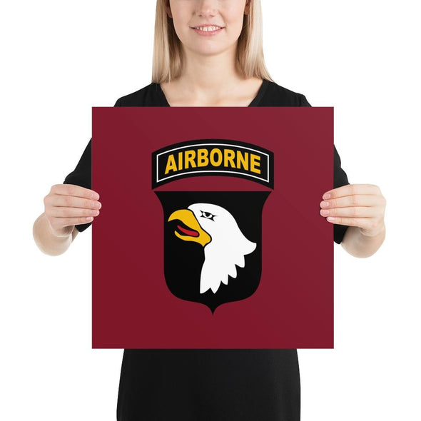 101st Airborne Division Poster - 16×16