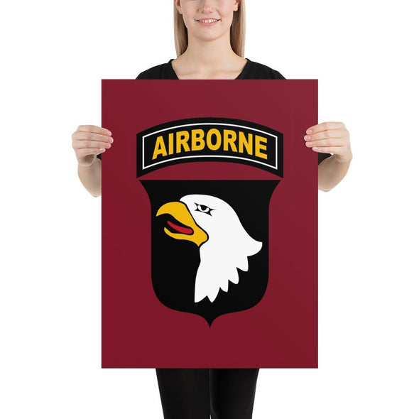 101st Airborne Division Poster - 18×24