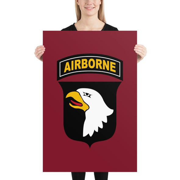 101st Airborne Division Poster - 24×36