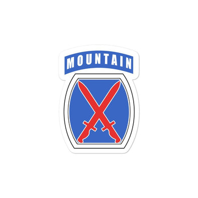 10th Mountain Division Bubble-free stickers - 3x3