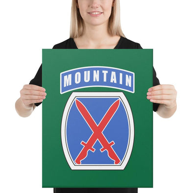 10th Mountain Division Canvas - 16×20