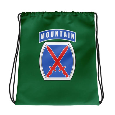 10th Mountain Division Drawstring bag