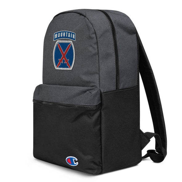 10th Mountain Division Embroidered Champion Backpack