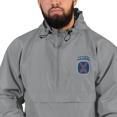 10th Mountain Division Embroidered Champion Packable Jacket - Graphite / S