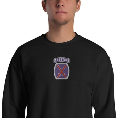 opszillastore,10th Mountain Division Embroidered Unisex Sweatshirt,