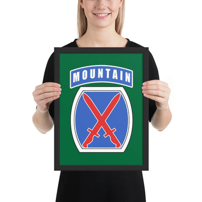 10th Mountain Division Framed poster - 12×16