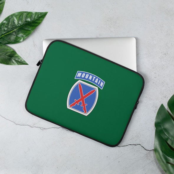 10th Mountain Division Laptop Sleeve - 13 in