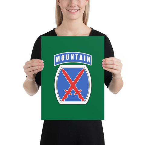 10th Mountain Division Poster - 12×16