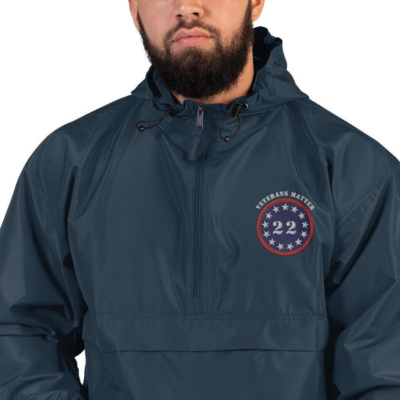 opszillastore,22 A Day Veterans Matter Embroidered Champion Packable Jacket,